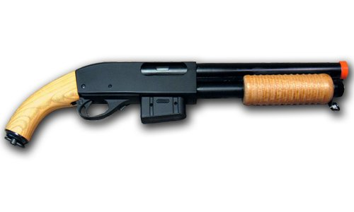 AGM 9870 Airsoft Spring Shotgun Metal Sawed Off