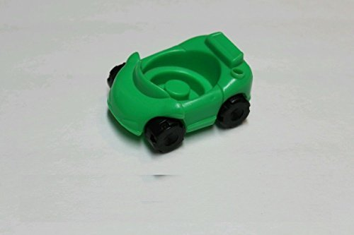 Fisher Price Little People Race Track Garage GREEN CAR 1995 Fits LP 1995-2014 - 1