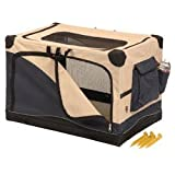 Precision Pet Navy & Tan Colored Portable Soft Side Dog Crate X-Small 20 L x 13 W x 12 H 1000 model