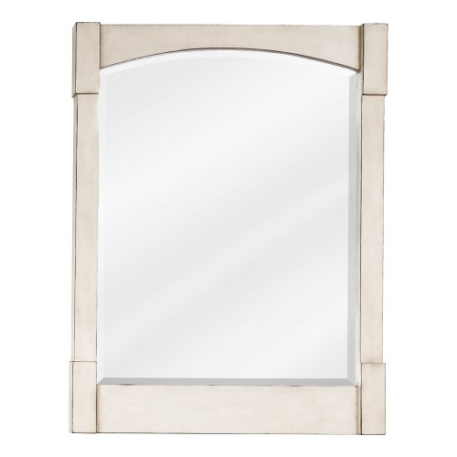 Concord Contemporary White Mirror by Lyn Design Color - White