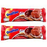 New Ovaltine Sandwich Cookies with Chocolate Malt Cream Hi Calcium 30g. (Pack of 2)