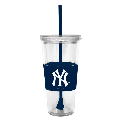 Mlb New York Yankees 22-Ounce Insulated Straw Tumbler With Sleeve