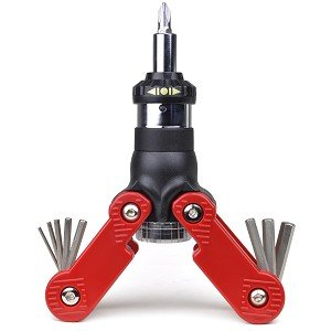 15-in-1 Multi-Tool Ratcheting Screwdriver & Hex Key Wrench Combo Tool (Red/Black)