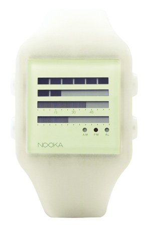 DIESEL Wrist Watches:Nooka Unisex ZUB-ZENH-GL-20 Zub ZenH Glow in the Dark Polyurethane Watch Images