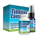 Tinnitus Control Ear Ringing Relief - Relive Ringing in Ears with All-Natural Homeopathic Tinnitus Remedy Treatment ~ 3 Packs