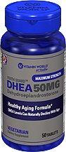 Vitamin World Youth Guard DHEA 50 mg Dehydroepiandrosterone (50 Tablets)