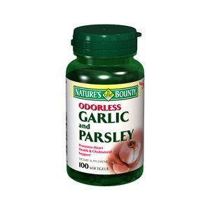 Special Pack Of 5 Natures Bounty Garlic & Parsley Odorless 100Sg