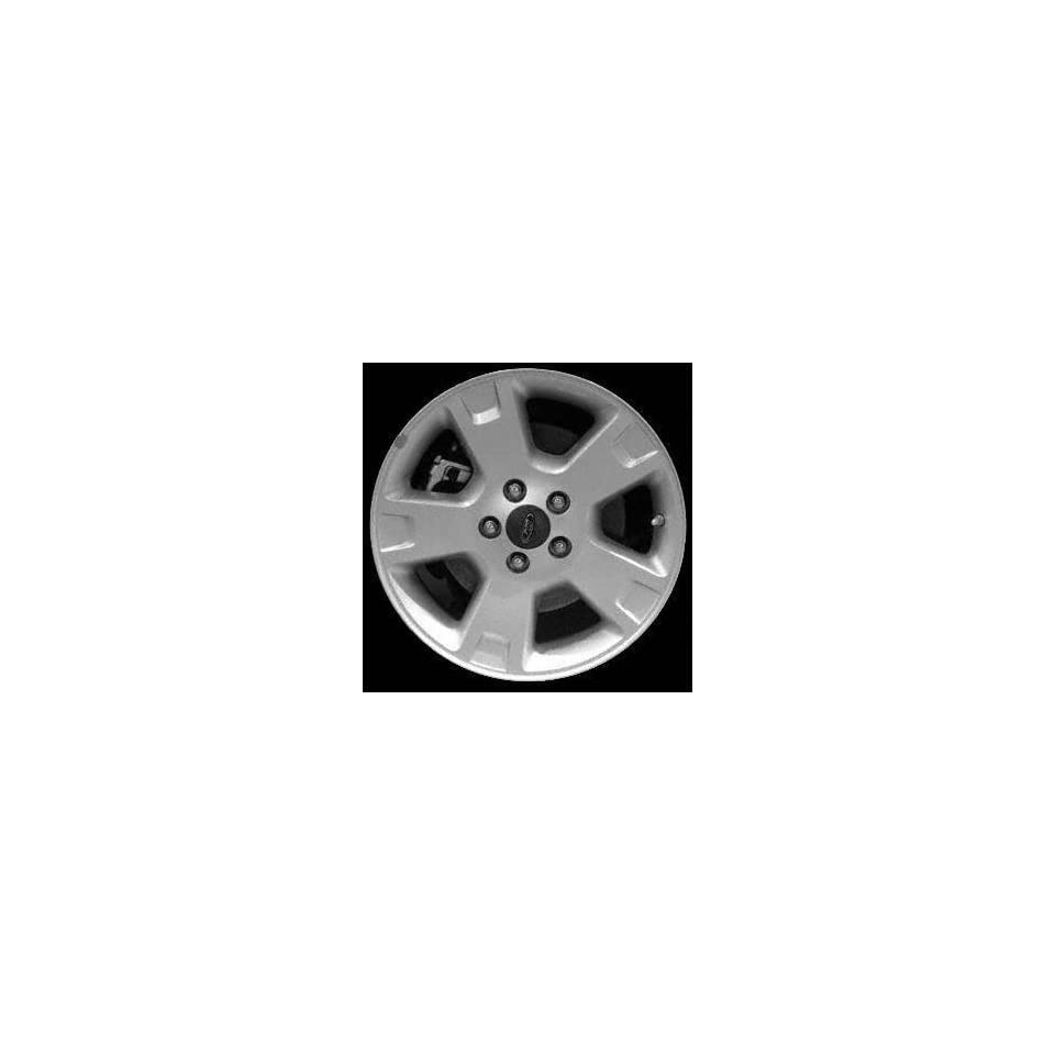 02 05 FORD EXPLORER ALLOY WHEEL RIM 17 INCH SUV, Diameter 17, Width 7.5, Lug 5 (5 SPOKE WITH ONE INDENTION ON ENDS OF SPOKES), MACHINED SILVER VENTS, 1 Piece Only, Remanufactured , (center cap not inc