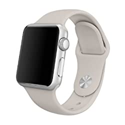 Apple Watch Replacement Band - Valuebuybuy Soft Silicone Replacement Sports Wristbands Straps for Apple Wrist Watch iWatch All Models Formal Colors S/M Size-42mm/Stone