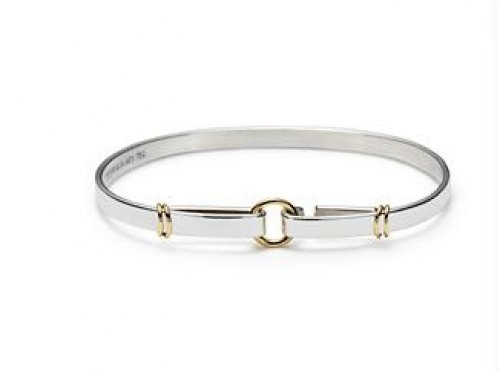 Bling Jewelry Sterling Silver Bangle Bracelet Circle and Loops 7 Inch