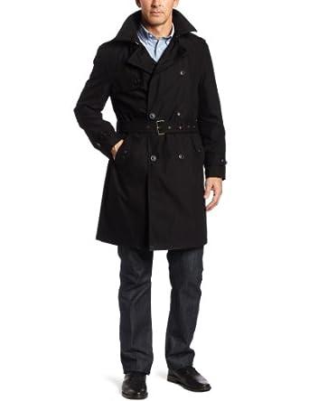 (2.3折)美国哈特马克斯Hart Schaffner Marx Men's Parnell男士双排扣风衣$98.79