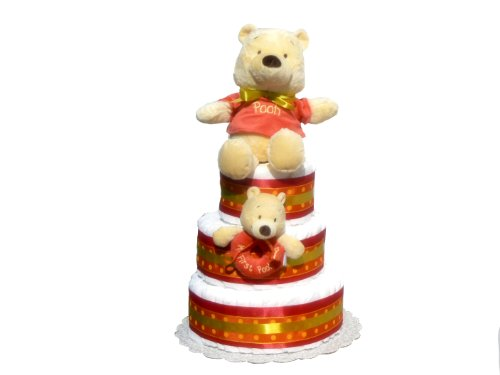 Hundred Acre Wood Baby Shower Diaper Cake Collection (3 Tier, Pooh)