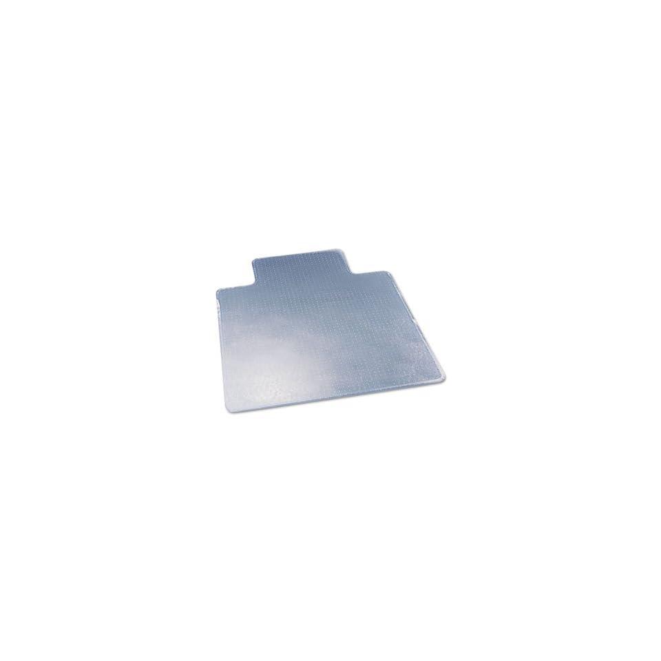 deflect o CM17233   ExecuMat Studded Beveled Chair Mat, High Pile Carpet, 45w x 53l, Clear