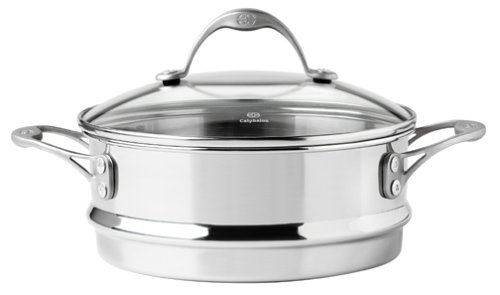 Calphalon One Infused Anodized Stainless-Steel Stack Steamer with Lid (Vegetable Steamer Calphalon compare prices)