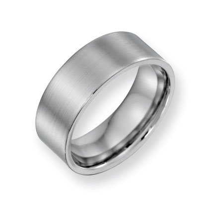 Cobalt Chromium Satin 8mm Band Ring - Size 11 - JewelryWeb