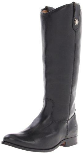 Frye Women's Melissa Button Boot Black Riding Boot 77167 7 UK