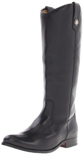 FRYE Women's Melissa Button Boot, Black Soft Vintage Leather, 7 M US
