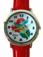 Disney Princess Watch - The Little Mermaid Watch w red leather band