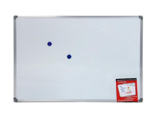 Dooley Boards Aluminum Framed Magnetic Dry Erase Board, 24 x 36 Inch, Silver (2436MBMGA)