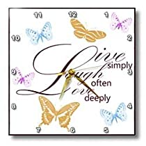 PS Inspirations - Live Laugh Love with Pretty Butterflies - Wall Clocks