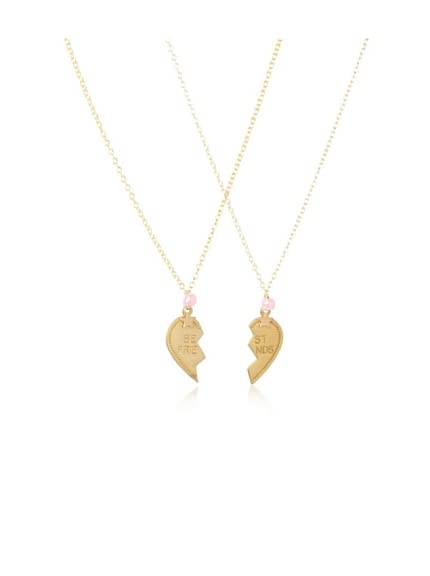 Bottleblond Jewels Kid's Best Friends Heart & Star Necklace Set
