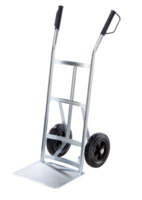 EUROKRAFT-Stahl-Sackkarre-Tragfhigkeit-350-kg-Schaufeltiefe-250-mm-Vollgummireifen-Rad--250-mm-Karre-Ladekarre-Sackkarre-Stahlkarre-Stahlkarren-Stapelkarre-Transportkarre-Treppensackkarre-Treppensackk