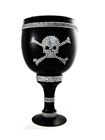 Silver Skull Pimp Costume Cup - ONE SIZE