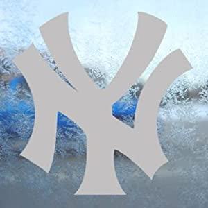 NEW YORK YANKEES Gray Decal NY Car Truck Window Gray Sticker