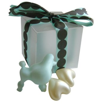 Petite Poodle Soap Gift, Blue - Bridal Shower Favor