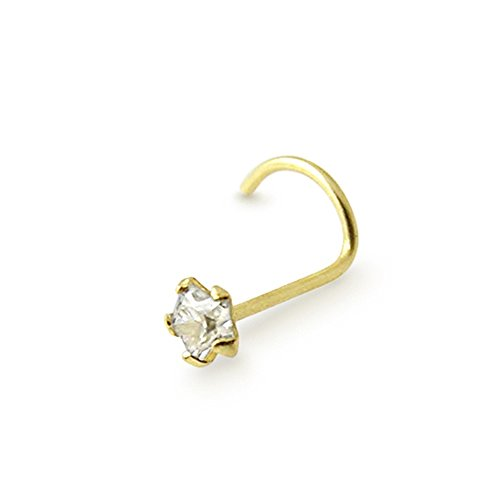 bijou corps piercing nez vis etoile 3mm en zirconia or jaune solie 9carats bijouterie carr or. Black Bedroom Furniture Sets. Home Design Ideas