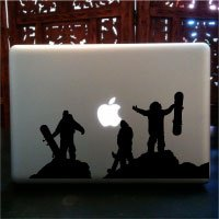 Snowboarding Burton Macbook Decal © Laced up Decals