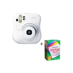 Fuji Instax Mini 25 Instant Camera + 20 Prints - 1 Twin Pack of film