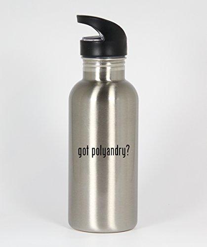 got polyandry? - Funny Humor 20oz Silver Water Bottle