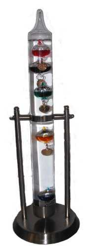 10690 Galileo Thermometer Swing, Edelstahl, 32 cm