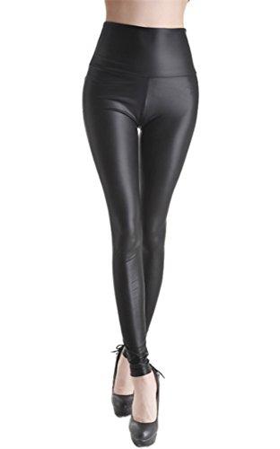 Sexy Stretch PU Pelle Pantaloni Leggings Leggings effetto in pelle PU, Pantaloni sottile pelle sintetica Treggins Matt Misura M (107 cm/ 60 cm/ 81 cm)