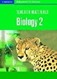 Teacher Materials Biology 2 CD-ROM (Cambridge Advanced Sciences)