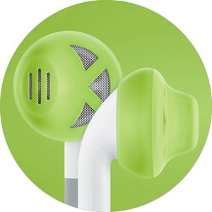 Earskinz Earbud Covers (Es1) - Lime - For Iphone 4S / 4 / 3Gs / 3G, Ipod Touch, Ipod Nano, One Size