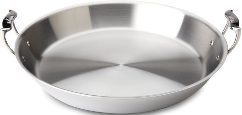 All-Clad 4416 Stainless Steel Tri-Ply Bonded Dishwasher Safe Paella Pan / Cookware, Silver