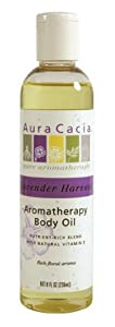 Aura Cacia Lavender Harvest, Aromatherapy Body Oil, 8 oz. bottle (Pack of 3)