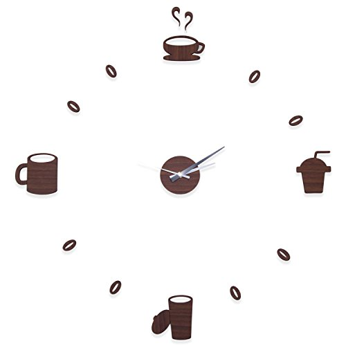 faux-brown-wood-diy-battery-powered-adhesive-wall-clock-with-coffee-designs-23-x-23