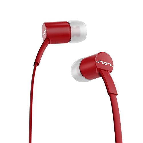 Sol Republic 1112-73 Jax In-Ear Headphones With Single-Button Remote And Microphone, Crimson