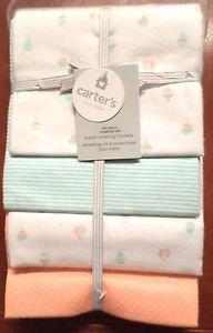 Carter's Receiving Blanket, Hot Air Balloon, 4 Count - 1