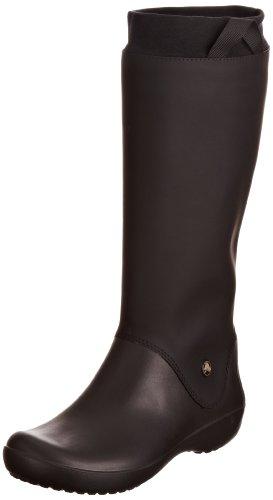 Crocs Women's Rainfloe Black/Black Waterproof Boots 12424-060-480 7 UK