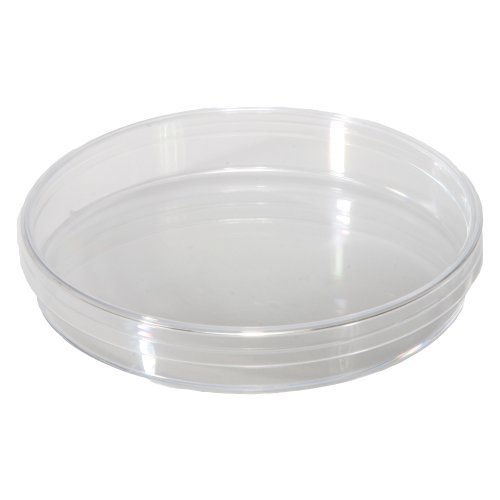 Sterilin 502014-01 Plastic Sterile Dishes without Vent, Top And Bottom, 100mm OD x 15mm H, Pack of 20