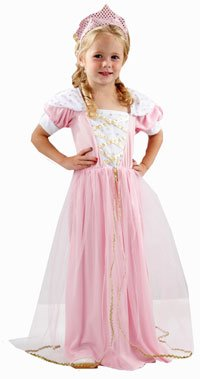 Pink Girls Princess Fancy Dress Costume Age 3