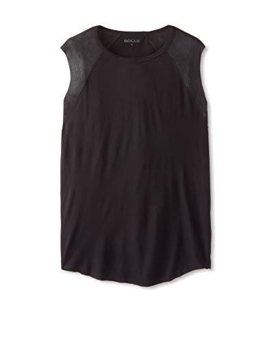 Rogue Men's Sleeveless Leather Insert T-Shirt