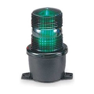Low Profile Warning Light, Led, Green, 120V