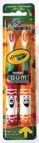 GUM Crayola Pip-Squeaks (2 toothbrush value pack) 232 - Colors may vary