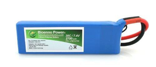 Bioenno Power Lightweight 30C, 7.4V, 2700 mAh LiPo Battery for RC Models