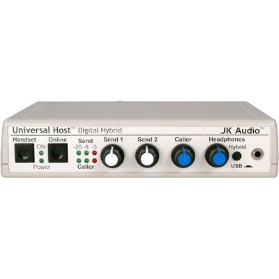 JK Audio U-Host Universal Host Desktop Digital Hybrid for IP or PBX Telephones